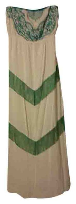Preload https://item1.tradesy.com/images/cream-with-teal-long-casual-maxi-dress-size-8-m-4710985-0-0.jpg?width=400&height=650
