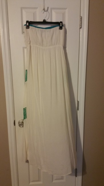 Cream with teal Maxi Dress by Original Piece