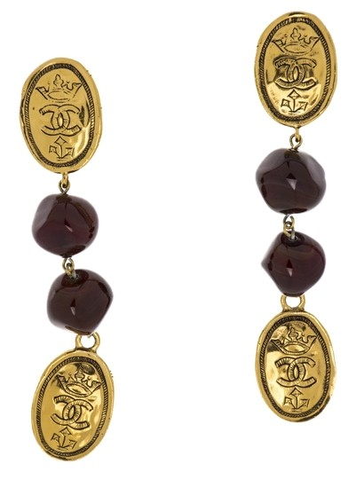 Chanel Chanel Vintage Dangle Crown Earrings