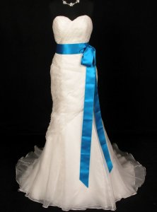 Marine Blue Double Faced Satin Ribbon Sash