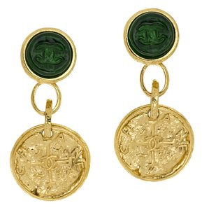 Chanel Chanel Vintage 95A Dangle Gripoix Earrings