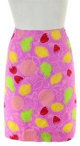 Lilly Pulitzer Fruit Print Mini Skirt Pink