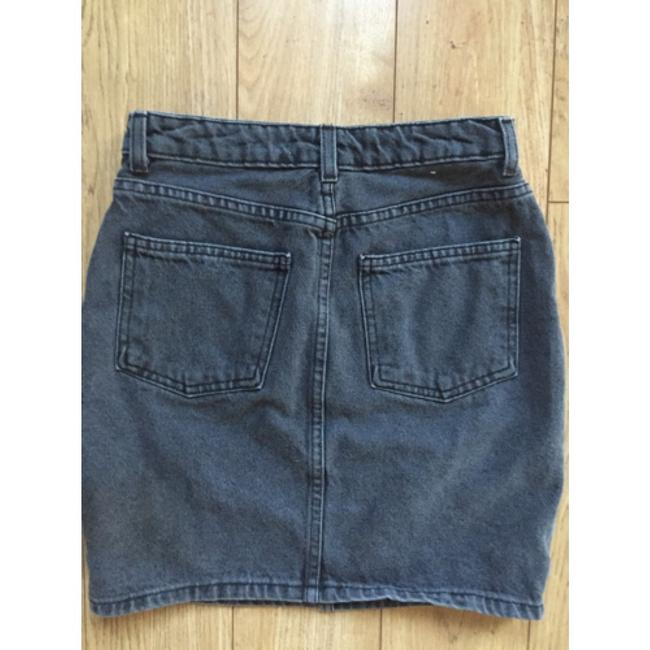 American Apparel Mini Skirt Stone washed black