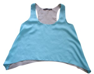 Sugarlips Color-blocking Top Aqua / Taupe