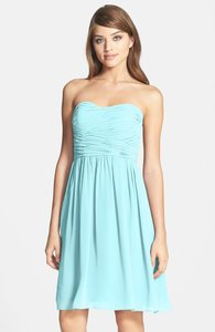 Donna Morgan Gulf Stream 'sarah' Strapless Ruched Chiffon Dress Dress