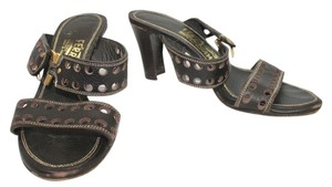 Salvatore Ferragamo Leather DARK BROWN Sandals
