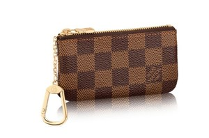 5bbd947fbbf1 Louis Vuitton Damier Ebene Canvas Key Pouch Wallet - Tradesy