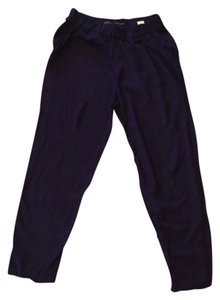 Zara Casual Elastic Classic Trouser Pants Navy blue
