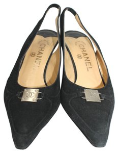 Chanel Suede Leather BLACK Sandals