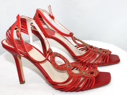 Dior Christian Leather Heels RED Formal