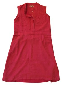 Madewell short dress Salmon Red Midi Date Night Dryclean Only on Tradesy