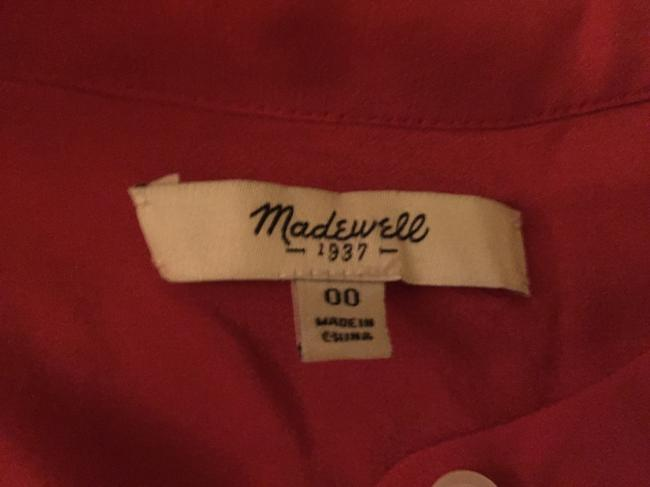 Madewell short dress Salmon Red Midi Date Night Dryclean Only Silk Polyester Flowy Comfortable Structured Shift Shift Tea Length on Tradesy