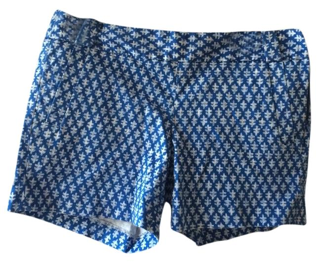 J.Crew Fit Stretch Pattern Mini/Short Shorts Blue/White