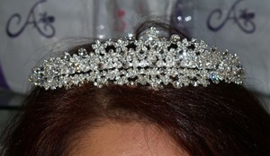 Silver/Silver Crystals For Bride T01 Tiara