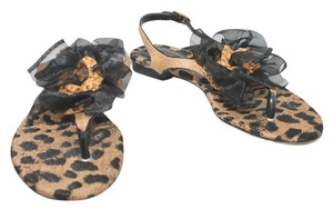 Dolce&Gabbana Dolce & Gabbana Animal Print BROWN/BLACK Sandals