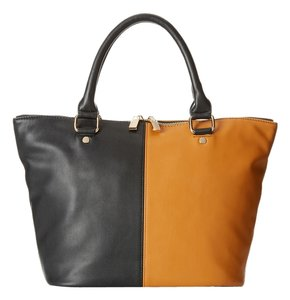 deux lux Satchel in Black/Cognac