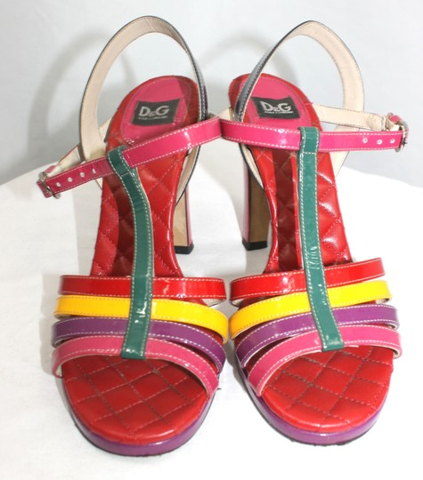 Dolce&Gabbana D & G Dolce & Gabbana Leather Heels ```````````````````````````````` Formal