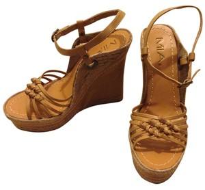 MIA Braided Rope Trim Natural Wedges