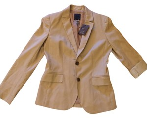 J.Crew Structured Cotton Polyester Cream Blazer