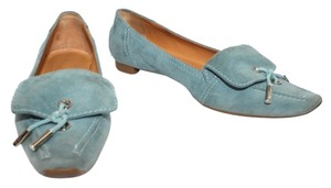 Tod's Suede Leather Flat AQUA Flats