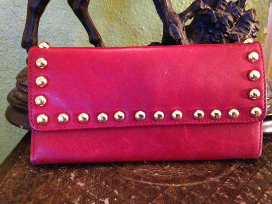 luciana verde Red Leather Wallet