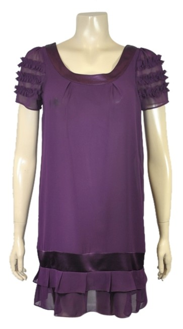 Preload https://item5.tradesy.com/images/bailey-blue-purpleburgundy-chiffon-small-above-knee-cocktail-dress-size-4-s-4714024-0-0.jpg?width=400&height=650