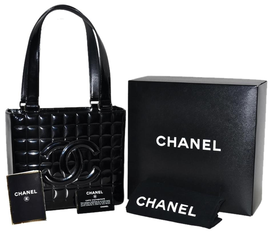 Chanel Paris Chocolate Bar Quilted Handbag Purse Made In Italy Black  Leather Satchel ac40bf04e09d4