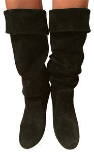 Steve Madden Suede Tall Black Boots