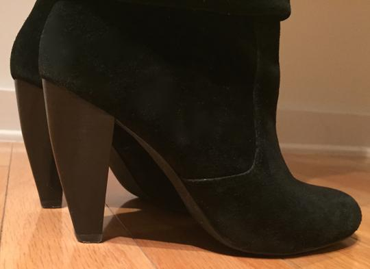 Steve Madden Suede Tall Slouch Sexy Black Boots