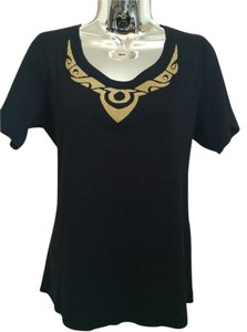 Ellen Tracy Short Sleeves T Shirt black