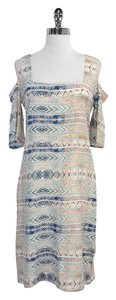 Tucker short dress Tribal Print Silk on Tradesy