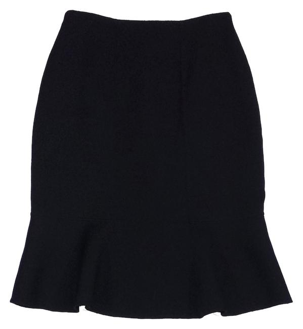 Carolina Herrera Wool Flared Hem Skirt