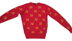 Brooklyn Industries Party Print Comfortable Bright Vintage Knit Limited Edition Sweater