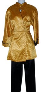 True Vintage True Vintage Gold Quilted 1940s Smoking Jacket and Pants