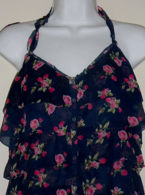 Abercrombie & Fitch Navy Blue Halter Top
