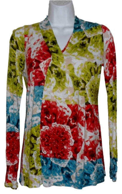 Simply Vera Vera Wang Soft Cotton Water Color Abstract Top Multi