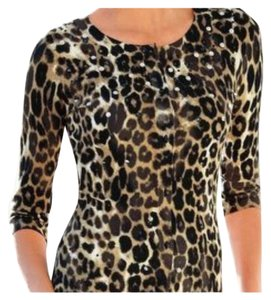 Boston Proper Embellished leopard print cardigan