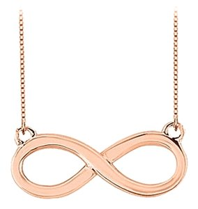 LoveBrightJewelry Infinity Pendant with 14K Rose Gold Vermeil Sterling Silver