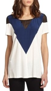 AIKO T Shirt White Blue Black