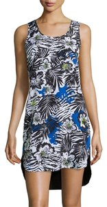 Michael Kors short dress Floral Black White & Blue on Tradesy
