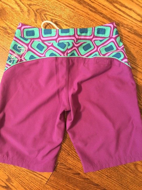 Level Six Board Shorts purple and teal