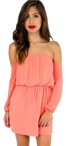 Tobi short dress Coral on Tradesy