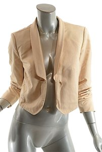 Saint Laurent Yves Bolero Cotton Beige Blazer