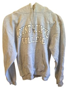 Champion Sweatshirt Hoodie Mount Holyoke Gray Sweater