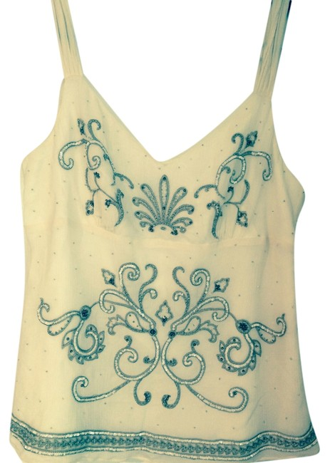 Preload https://item2.tradesy.com/images/ann-taylor-tank-top-beige-with-gold-and-white-4718551-0-0.jpg?width=400&height=650