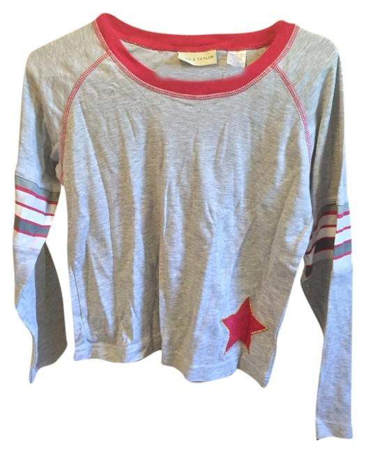 Lord & Taylor Long Sleeve Casual T Shirt Gray