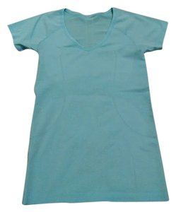 Lululemon Lululemon Run Swiftly V- Neck Tech Tee, Teal, Size 6