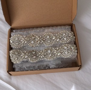 Crystal And Pearl Wedding Belt Applique