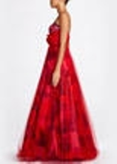 David's Bridal Other Tulle Strapless Printed Ball Gown with Overlay Sty Modern Wedding Dress Size 6 (S)