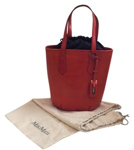 Max Mara Tote in Dark Orange With Dark Brown Liner